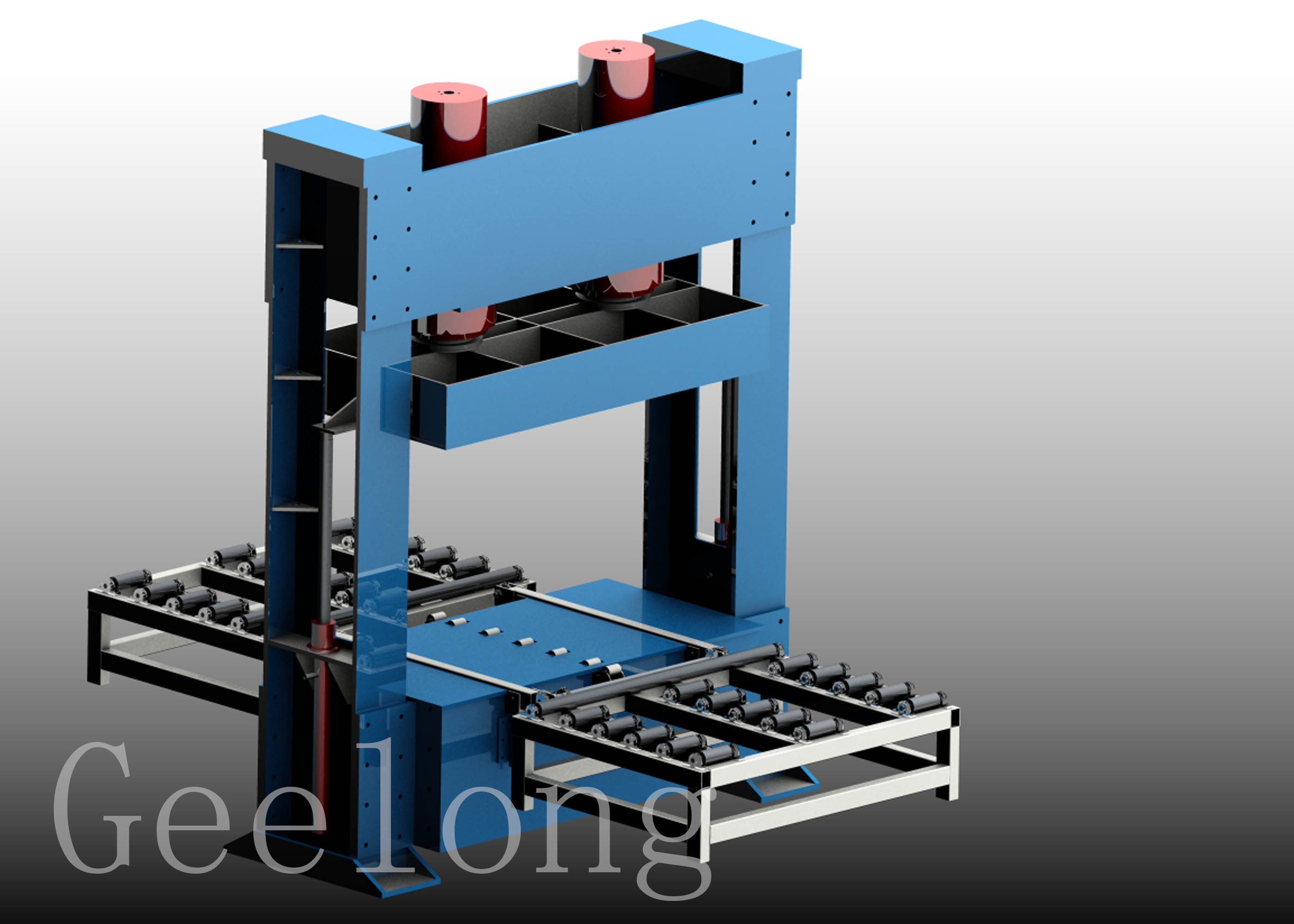 Mesin mesin press dingin plywood